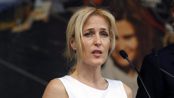 Gillian Anderson - photo Alastair Grant - Canadian Press