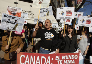 Seal hunt protest