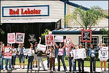 Protest at Red Lobster