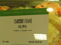 Canadian Flounder at Publix
